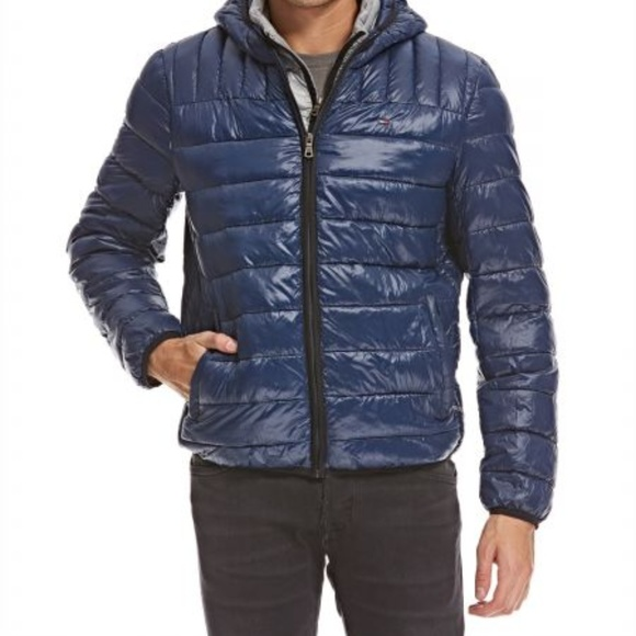 fad5e4a454 Tommy Hilfiger Jackets & Coats | Blue Puffer Jacket Men Size Medium ...